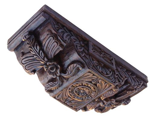 mensula de madera gotico-mudejar, restauracion