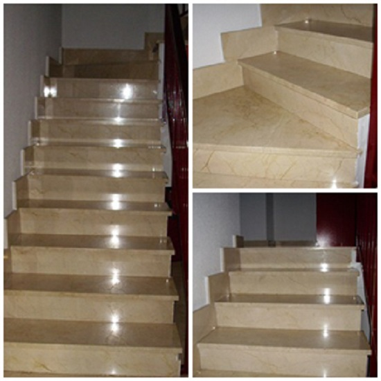 Escalera de silestone un paso m s decoracion for Escaleras de material